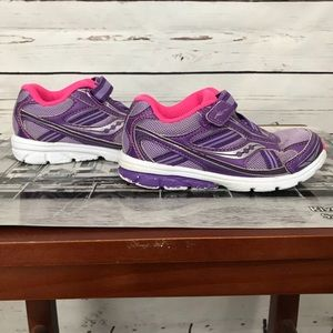 Saucony Girl's Baby Ride 6W Purple Pink White Sneakers ST54399 Pre Owned